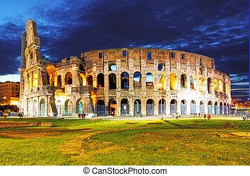 colisée, rome, italie