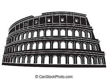coliseo, en, roma, italia