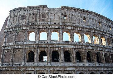 coliseum., 著名的地方, 在, italy., 在, 羅馬