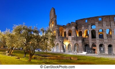 Coliseum at dawn. Rome, Italy