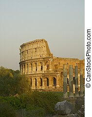 Coliseum at sunset