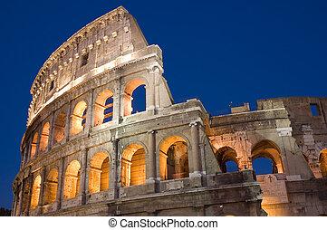 Coliseum in Rome city