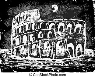coliseum, noche