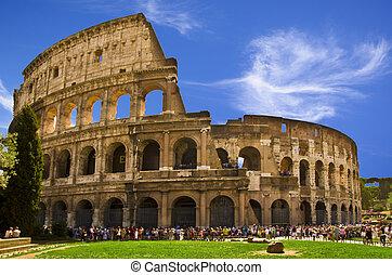 coliseum, nombre, su, flavian, :, anfiteatro, original