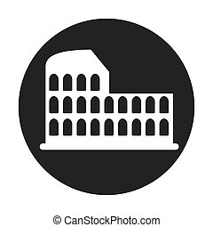 coliseum roman isolated icon