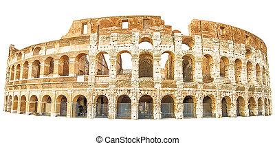 Coliseum Rome isolated
