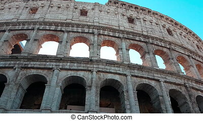 Coliseum Rome Italy - Close Up Timelapse - Closeup View...