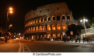 Coliseum, Rome - Time lapse in the night