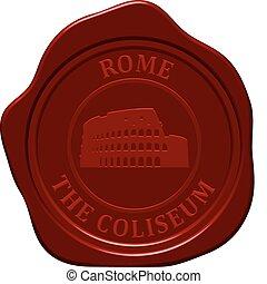 coliseum sealing wax