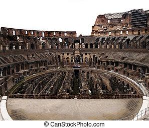 Coliseum Stage - The historic Roman coliseum located in Rome...