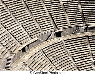 Coliseum stairs - Ancient Roman coliseum from above