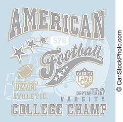 collège, football américain, champion