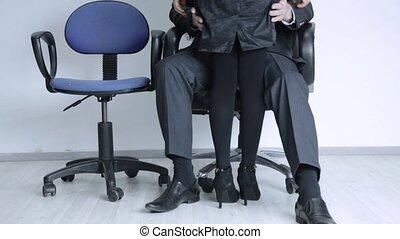 collègue, ass., patron, empare, abus, concept, homme...