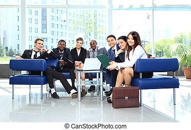 collègue, groupe, bureau, business, ensemble, réunion