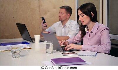 collègues, bureau, fonctionnement, business, bureau
