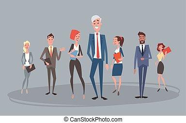collègues, groupe, professionnels, humain, équipe, ressources