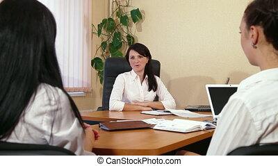 collègues, réunion, business