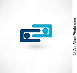 collaboaration., símbolo., equipe