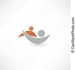 collaboaration., symbole., équipe