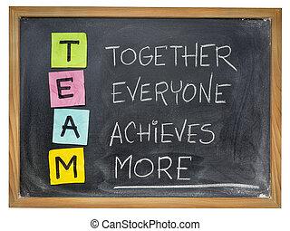 collaboration, équipe, concept, -