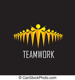 collaboration, -, équipe, vecteur, togetherness, concept, communauté