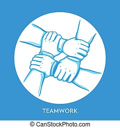 collaboration, business, collaboration, association, buidding., concept., hands., équipe, pile, coopération, groupe
