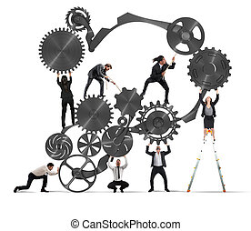collaboration, businesspeople