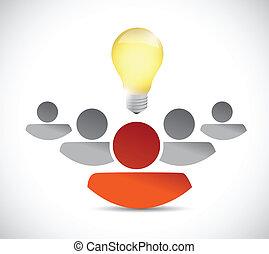 collaboration, concept, conception, idée, illustration