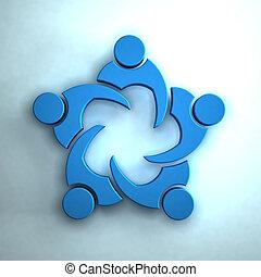 collaboration, concept, groupe, 3d, peoplemeetingr.