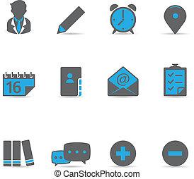 collaboration, duotone, -, icônes
