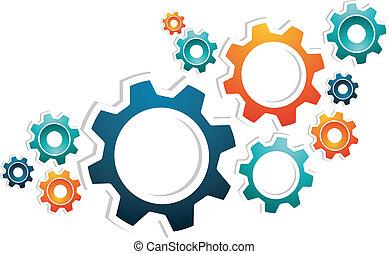 collaboration, engrenages, fonctionnement