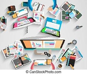 collaboration, espace de travail, brain-storming, idéal