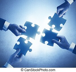 collaboration, et, intégration, concept