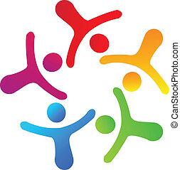 collaboration, gestion réseau, logo
