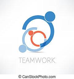 collaboration, icône