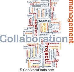 Collaboration management background concept