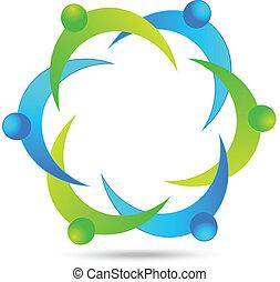 collaboration, professionnels, logo