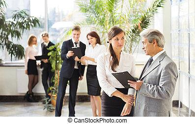 collaboration, réunion, séminaire
