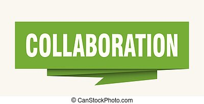 collaboration sign. collaboration paper origami speech...