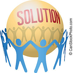 collaboration, trouver, joindre, solution, gens