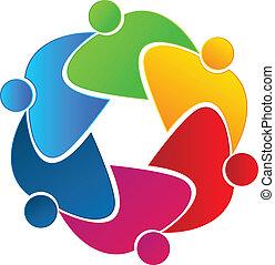 collaboration, union, gens, logo