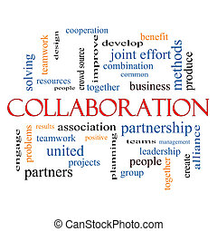 Collaboration Word Cloud Concept with great terms such as...