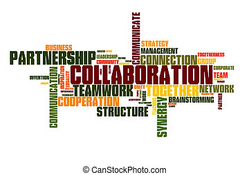 Collaboration word cloud - Collaboration concept word cloud...