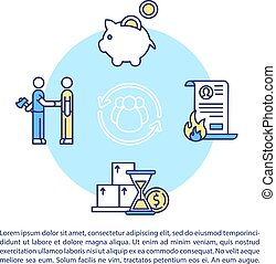 Collaborative economy pros and cons concept icon with text