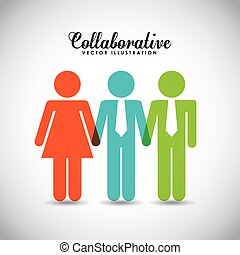 collaborative people design, vector illustration eps10 ...