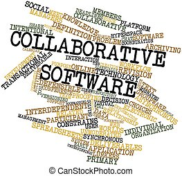 Collaborative software - Abstract word cloud for...