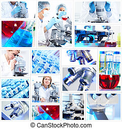 collage., 科学, 背景
