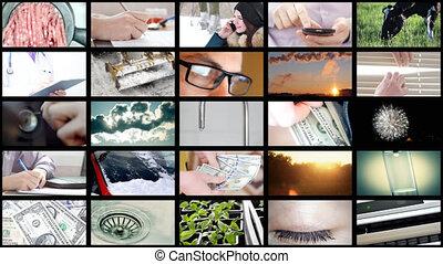 collage, 8k, différent, vidéo, ultrahd