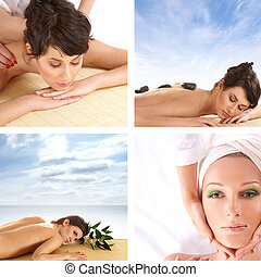 Collage about health and spa