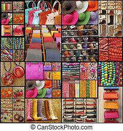 collage, accesorios
